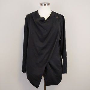 NWT Blank NYC Linen Blend Drape Jacket Sz S